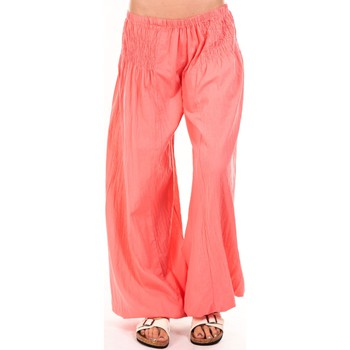 Clothing Women Wide leg / Harem trousers By La Vitrine Sarouel Medina corail Orange