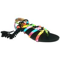 Shoes Women Sandals Cassis Côte d'Azur Spartiates Brides Multicolor Barbie Noir Black