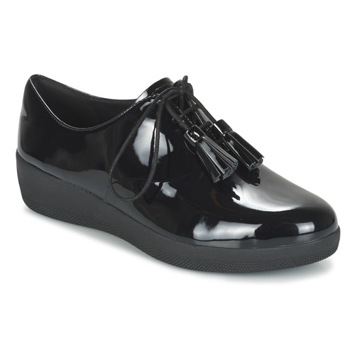 Shoes Women Low top trainers FitFlop CLASSIC TASSEL SUPEROXFORD Black