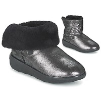 Shoes Women Mid boots FitFlop SUPERCUSH MUKLOAFF SHIMMER Black