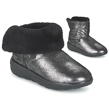 Shoes Women Mid boots FitFlop SUPERCUSH MUKLOAFF SHIMMER Silver