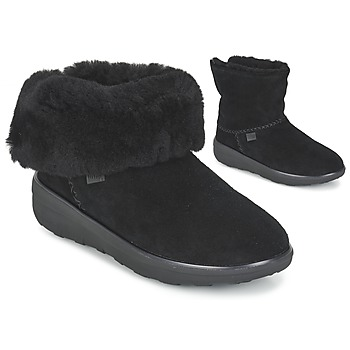 Shoes Women Mid boots FitFlop SUPERCUSH MUKLOAFF SHORTY Black