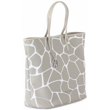 Bags Women Shopping Bags / Baskets Armani jeans SHOPPING BAG BEIGE Multicolore