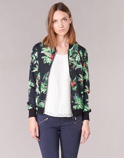Clothing Women Jackets / Blazers Moony Mood MIBOU MARINE / Multicoloured