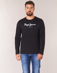 Clothing Men Long sleeved tee-shirts Pepe jeans EGGO LONG Black