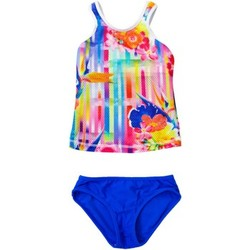 Clothing Girl Bikinis Seafolly Multicolor Swimsuit Children Summer Daze Racer Singlet MULTICOLOUR