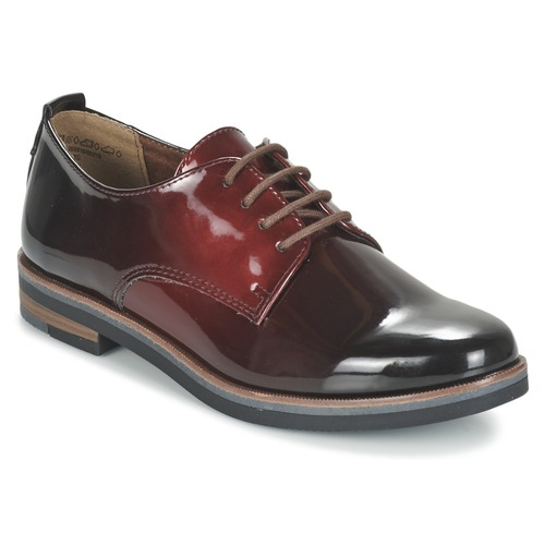 Shoes Women Derby Shoes Marco Tozzi TREFLO Red / Dark