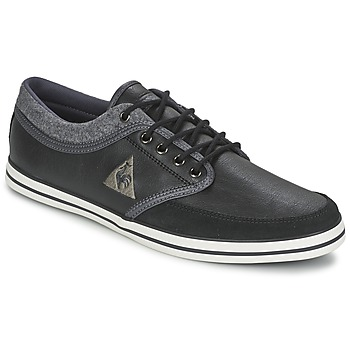 Shoes Men Low top trainers Le Coq Sportif DENFERT S LEA/FELT Black / Grey