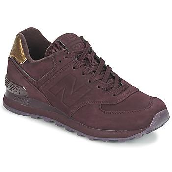 Shoes Women Low top trainers New Balance WL574 Bordeaux