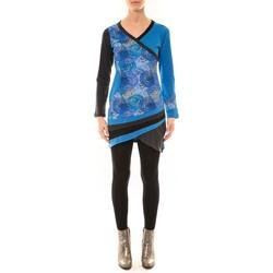 Clothing Women Long sleeved tee-shirts Bamboo's Fashion Robe BW640 bleu Blue