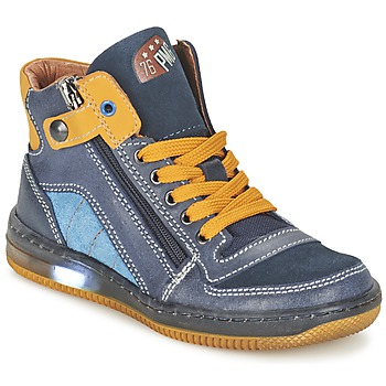 Shoes Boy Hi top trainers Primigi ADAM-E Blue / Yellow