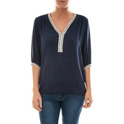Clothing Women Tops / Blouses Barcelona Moda Top Leny Marine Blue