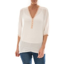 Clothing Women Tops / Blouses Barcelona Moda Top Leny Blanc White
