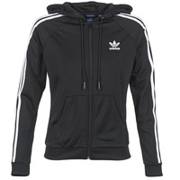 Clothing Women Track tops adidas Originals SLIM FZ HOODIE Black