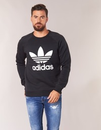 Clothing Men sweatpants adidas Originals TREFOIL CREW Black