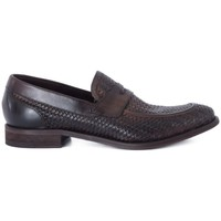 Shoes Men Loafers Kammi BRECOS VITELLO INTRECCIATO Marrone