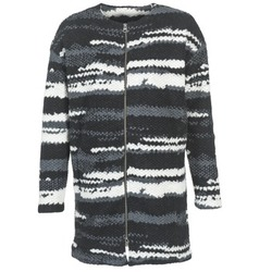 Clothing Women coats Bench EVENING Black / White / Grey