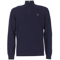 Clothing Men Jumpers Gant SUPER FINE LAMBSWOOL ZIP Marine