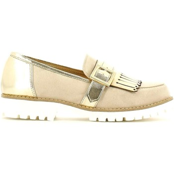 Shoes Women Loafers Grace Shoes 5276 Mocassins Women Beige Beige