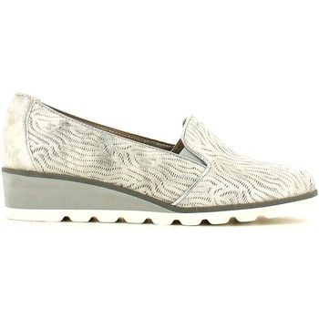Shoes Women Loafers Grunland SC2272 Mocassins Women Silver Silver