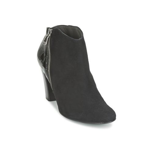 Shoes Women Shoe boots France Mode NANTES Black / Patent