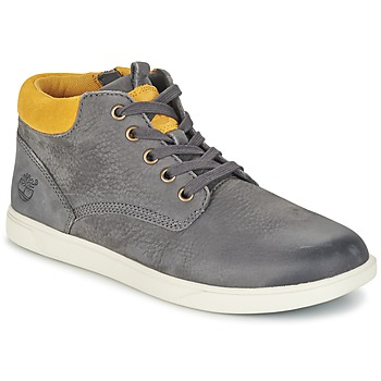 Shoes Children Mid boots Timberland GROVETON LEATHER CHUKKA Grey