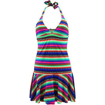 Lolita Angel  Multicolor Beach Dress Acapulco Smile  womens Dress in Multicolour