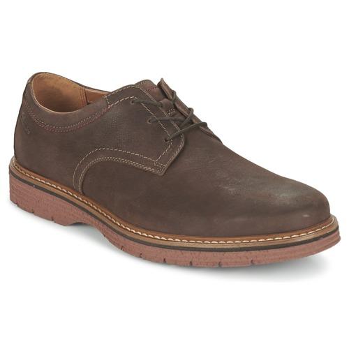 Shoes Men Derby Shoes Clarks NEWKIRK PLAIN Brown