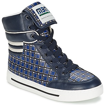 Shoes Women Hi top trainers Marc by Marc Jacobs CUTE KIDS MINI TOTO PLAID Blue / Multicoloured