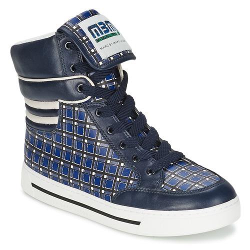 Shoes Women Hi top trainers Marc by Marc Jacobs CUTE KIDS MINI TOTO PLAID Blue / Multicolour