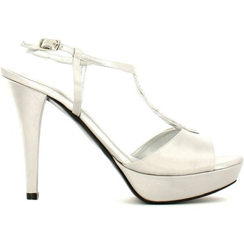 Shoes Women Sandals Grace Shoes 2079 High heeled sandals Women Silver Silver