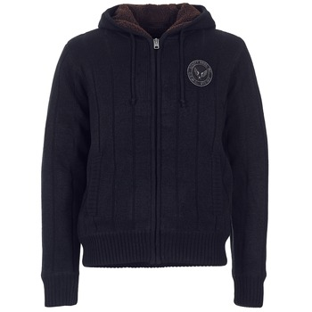 Clothing Men Jackets / Cardigans Schott DUNLIN Black