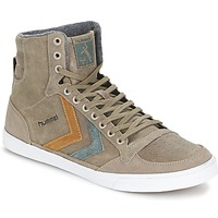 Shoes Hi top trainers Hummel TEN STAR DUO OILED HIGH Brown
