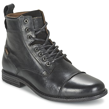 Men's Vintage Workwear Inspired Clothing Levis  EMERSON LACE UP  mens Mid Boots in Black £126.00 AT vintagedancer.com