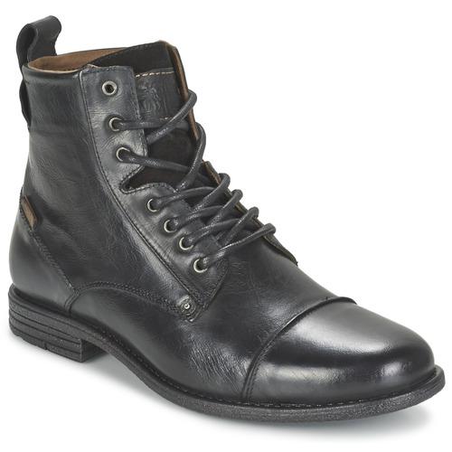 Shoes Men Mid boots Levi's EMERSON LACE UP Regular /  BLACK