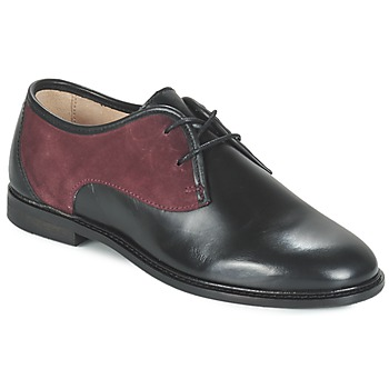 Shoes Women Derby Shoes M. Moustache EUGENIE Black / BORDEAUX