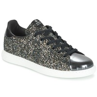 Shoes Women Low top trainers Victoria DEPORTIVO BASKET GLITTER Antracite