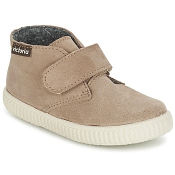 Shoes Children Hi top trainers Victoria SAFARI SERRAJE VELCRO TAUPE