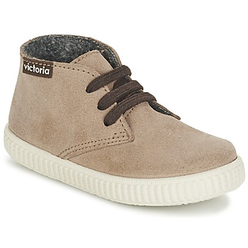 Shoes Children Hi top trainers Victoria SAFARI SERRAJE KID TAUPE