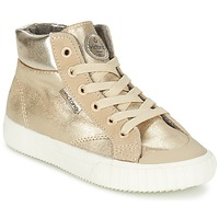 Shoes Girl Hi top trainers Victoria BOTA METALIZADA PU Gold
