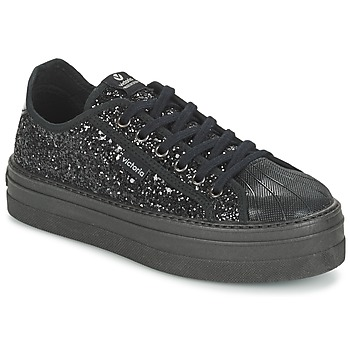 Shoes Women Low top trainers Victoria DEPORTIVO BASKET GLITTER Black