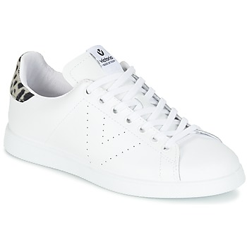 Shoes Women Low top trainers Victoria DEPORTIVO BASKET PIEL White / Grey / Animal / Print