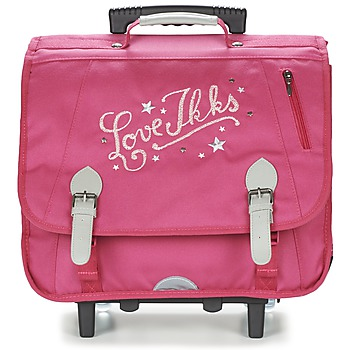Bags Girl Rucksacks / Trolley bags Ikks LOVE IKKS TROLLEY CARTABLE 41CM Pink