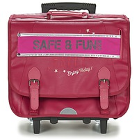 Bags Girl Rucksacks / Trolley bags Ikks HAPPY TROLLEY CARTABLE 41CM Pink