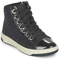 Shoes Girl Hi top trainers Geox CREAMY Black