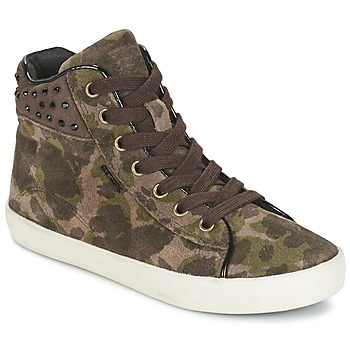 Shoes Girl Hi top trainers Geox KIWI GIRL Green