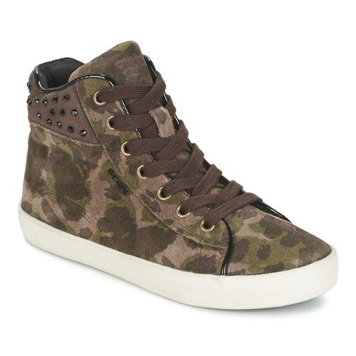 Shoes Girl Hi top trainers Geox KIWI GIRL Green