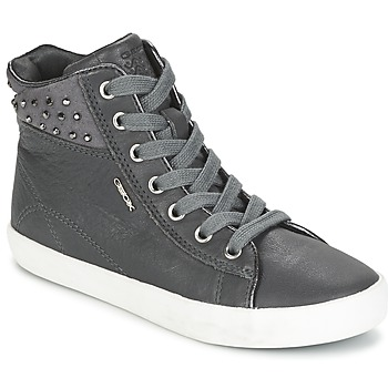 Shoes Girl Hi top trainers Geox KIWI GIRL Grey