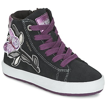 Shoes Girl Hi top trainers Geox WITTY Black