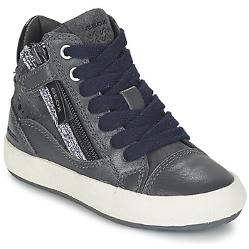 Shoes Girl Hi top trainers Geox WITTY Grey
